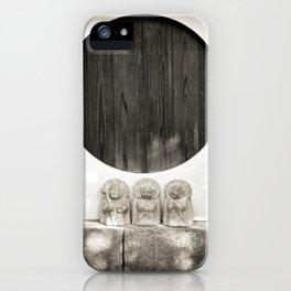 Jizo in Black and White, Kyoto iPhone Case