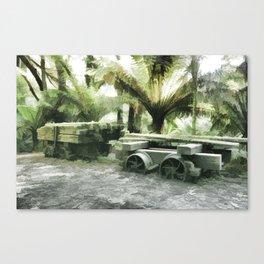 Old Sawmill Cart Canvas Print