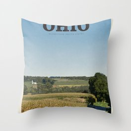 Visit Ohio Throw Pillow