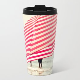 Summer Beach Umbrella Travel Mug