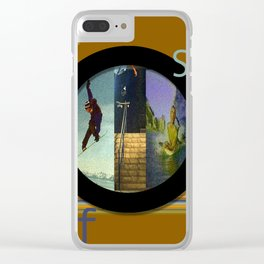 Skate Snow Surfer Clear iPhone Case