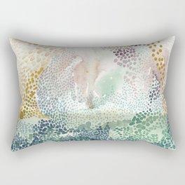 Flower burst; gold Rectangular Pillow