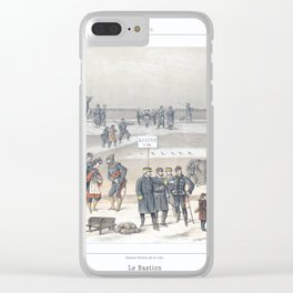 Paris art print Paris Decor office decoration vintage decor SIEGE & BASTION of Paris Clear iPhone Case
