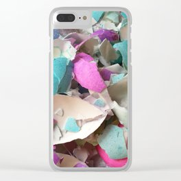 Eggshells Clear iPhone Case