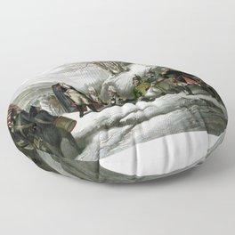 Washington and His Generals Floor Pillow