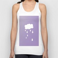 cloud Tank Tops featuring Cloud by SueM