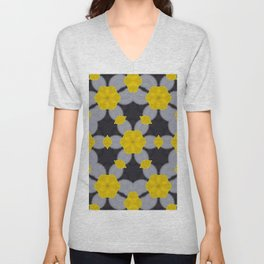Chains in Yellow Unisex V-Neck
