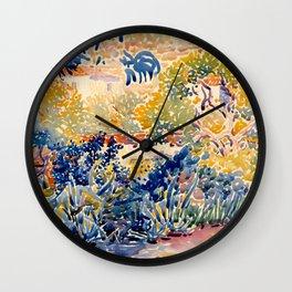 """Henri-Edmond Cross """"The Artist's Garden at St. Clair"""" Wall Clock"""