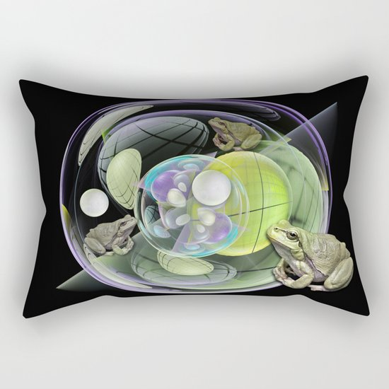 Froggies in a water bubble Rectangular Pillow
