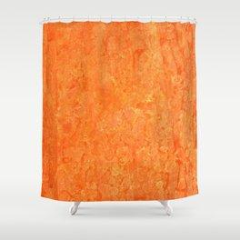 Orange Fizz Shower Curtain