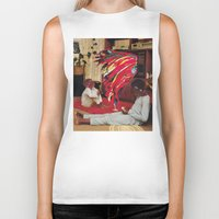 tv Biker Tanks featuring Television by Lerson