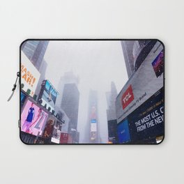 Snowy Times Square, NYC 2 Laptop Sleeve
