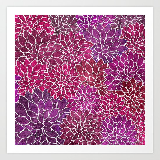 Floral Abstract 18 Art Print
