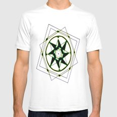 Compass MEDIUM Mens Fitted Tee White