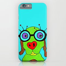 dog with glasses iPhone 6s Slim Case