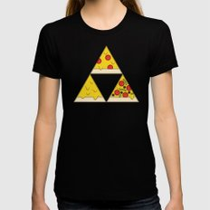 The Pizza Triforce LARGE Womens Fitted Tee Black