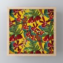 Vintage & Shabby Chic - Colorful Parrots tropical Jungle Pattern by vintage_love