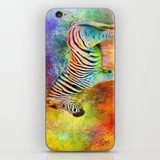 Jazzy Zebra Colorful Animal Art by Jai Johnson iPhone & iPod Skin