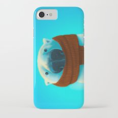 Polar bear with scarf iPhone 8 Slim Case