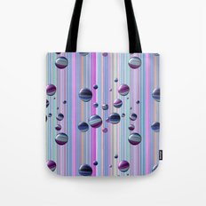 Сolored bubbles and stripes Tote Bag
