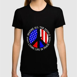 All People Imagine Living Life In Peace Gift T-shirt
