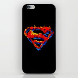 Superman in Flames iPhone Skin
