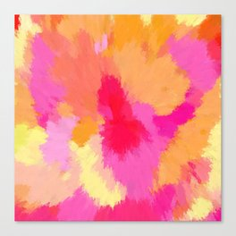Pink, Orange and Yellow Watercolors Canvas Print