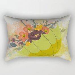 Autmn Floral Umbrella Rectangular Pillow
