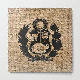 Peru Rustic Shield Metal Print