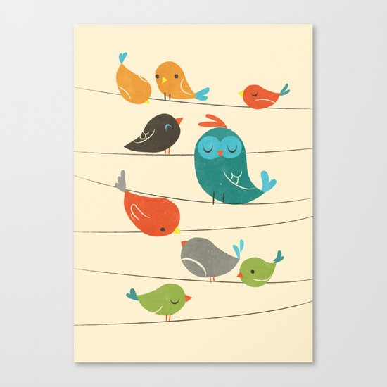 Colorful Birds Canvas Print