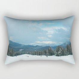 ski slope panorama Rectangular Pillow