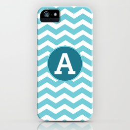Monogrammed Chevron Letter Art iPhone Case