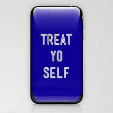 Treat Yo Self Blue - Parks and Recreation iPhone & iPod Skin
