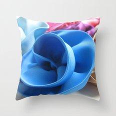 Silk Flowers Throw Pillow