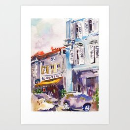 20140331 Amoy Street Singapore Art Print