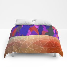 Abstract Colorful Pastel look Design Comforters