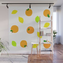 Citrus with Yellow, Orange and Green Oranges, Lemons and Limes Wall Mural