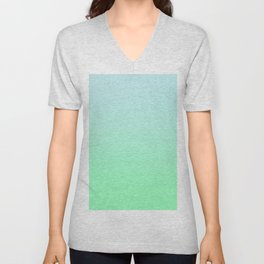 BIG WAVES - Minimal Plain Soft Mood Color Blend Prints Unisex V-Neck