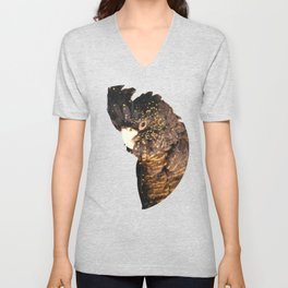 Black cockatoo illustration Unisex V-Neck