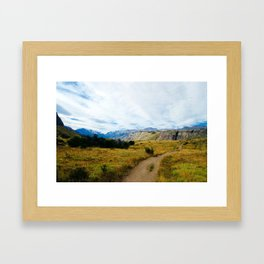 Patagonia path Framed Art Print