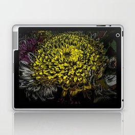Black yellow art Laptop & iPad Skin