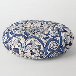 Beautiful Blue Portuguese tile - Azulejo Floor Pillow
