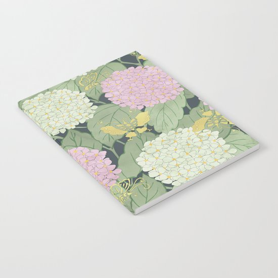 Hydrangeas and Butterflies - Such A Perfect Summer Day Notebook