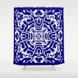 CA Fantasy Deep Blue-White series #5 Shower Curtain