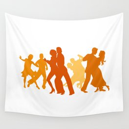 Tango Dancers Illustration  Wall Tapestry