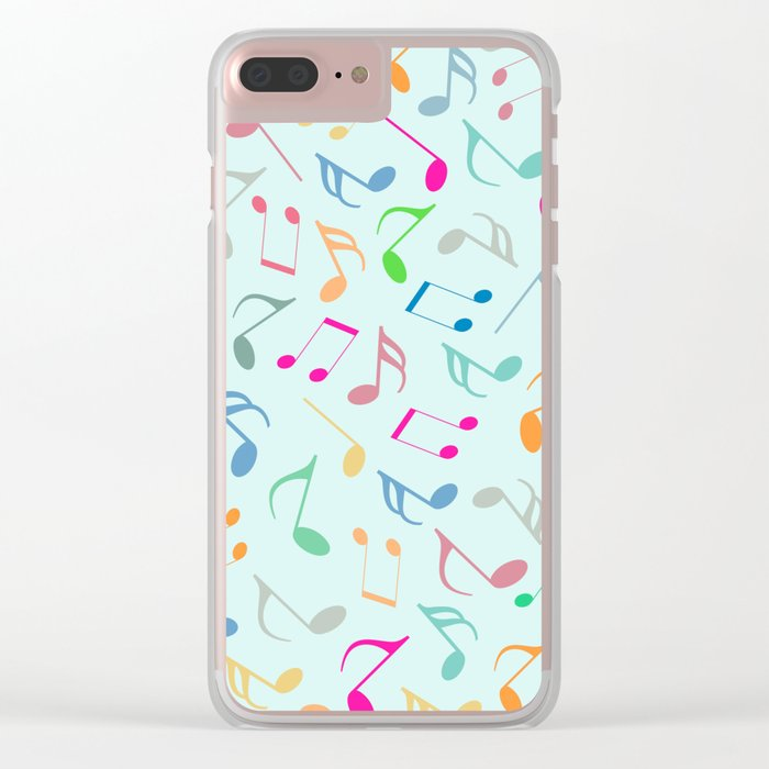 Music Colorful Notes Clear iPhone Case
