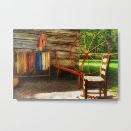 Yarnwork at the Mabry Mill Metal Print