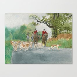 Fox Hunt 2 Canvas Print