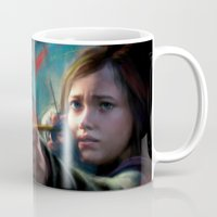 ellie goulding Mugs featuring The Last Of Us: Ellie by Kate Dunn