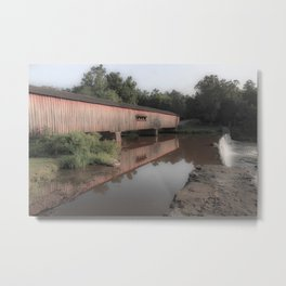 Watson Mill Historic Bridge Metal Print